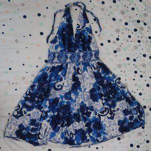Cute Black-less Flower Dress